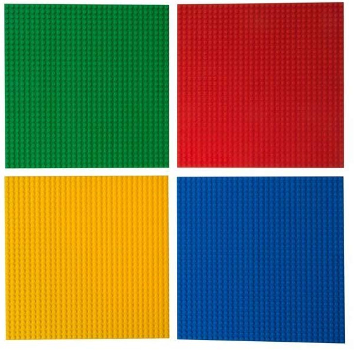 "Classic Stackable Baseplates 10"" x 10"" Building Brick Base Plates by Strictly Briks 