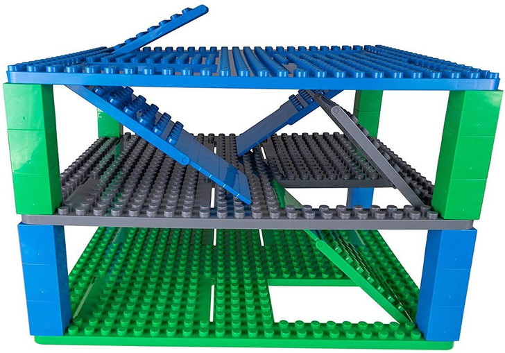 "Strictly Briks Classic Baseplate 13.75""x16.25"" Large Building Baseplate with 4 Trap Doors and 2 Ramps 100% Compatible with All Major Brands 