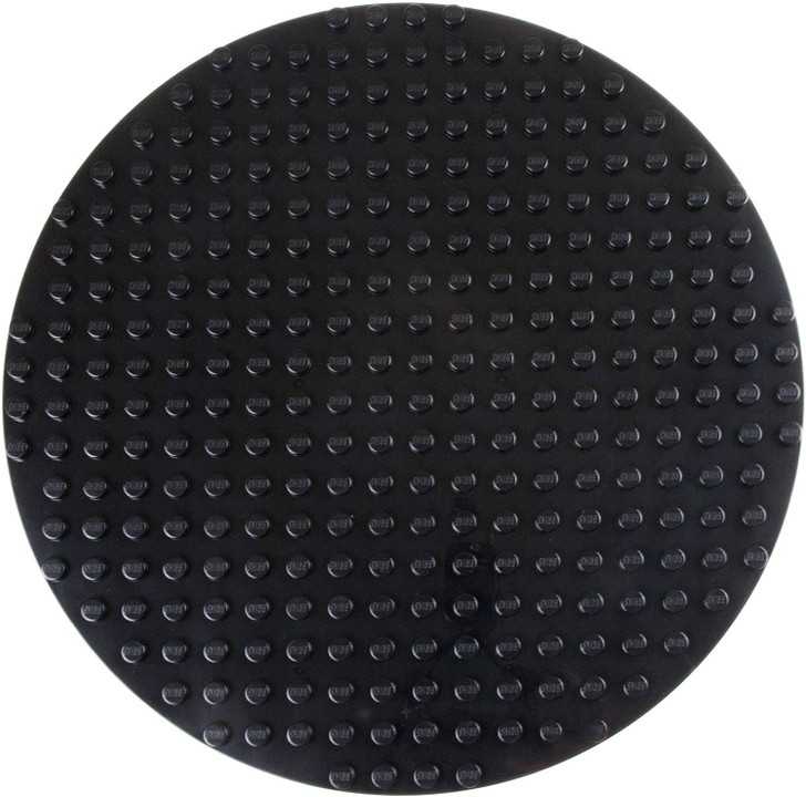 """Strictly Briks Classic Big Briks Circle Baseplate 100% Compatible with All Major Brands   Large Pegs for Toddlers   12.5"""" Diameter Building Brick Base   Black Tight Fit Stackable Base Plate"""