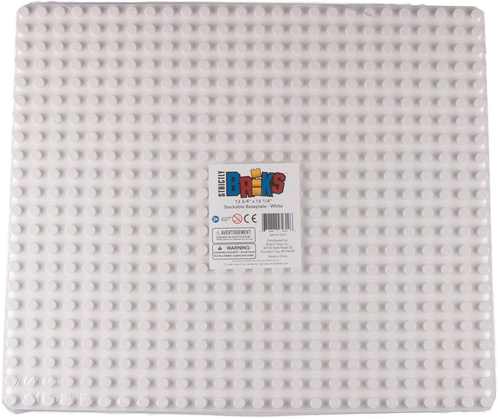"Strictly Briks Classic Big Briks Baseplate 100% Compatible with All Major Brands | Large Pegs for Toddlers | 13.75"" x 16.25"" Building Brick 