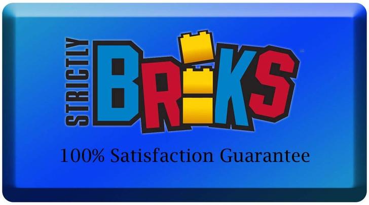 "Strictly Briks Half Circle Baseplates for Building Bricks   Compatible with Major Brands   8 Circular Baseplates   10"" Diameter (Blue)"