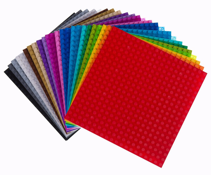 "Strictly Briks Classic Baseplates 6"" x 6"" Building Brick Baseplates 100% Compatible with All Major Brands 