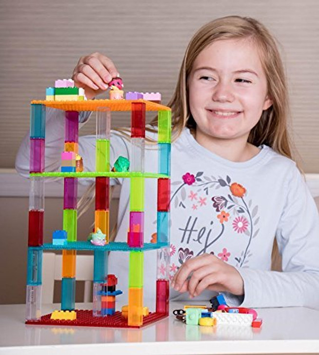 "Strictly Briks Classic Stackable Baseplates 6"" x 6"" Brik Tower by 100% Compatible with All Major Brands 