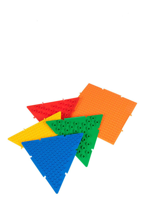 The Pyramid by Strictly Briks | Patent Pending 3D Play Brick Building Set | Compatible with All Major Brands | 5 Interconnecting Pyramid Plates | Double Sided for Large & Small Bricks