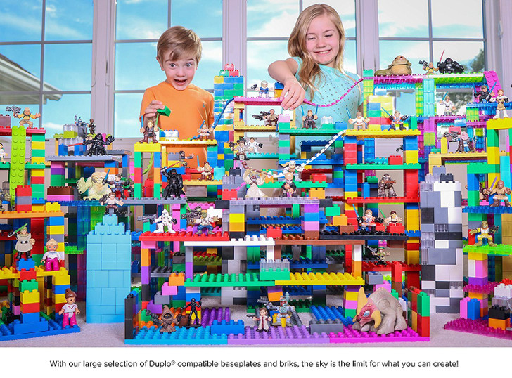 Classic Big Briks 36 Piece Set by Strictly Briks | Building Brick Set | 100% Compatible with All Major Large Brick Brands | Big Bricks For Ages 3+ | Tight Fit Bricks in Blue, Green, Yellow and Red