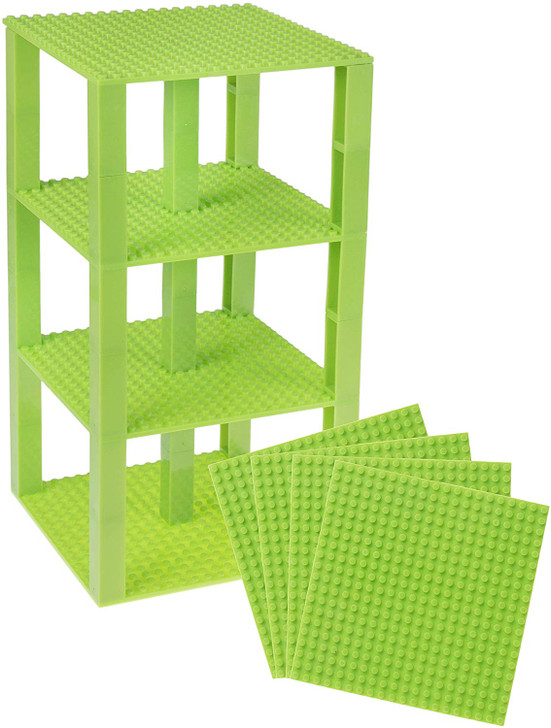 "Strictly Briks Classic Baseplates 6"" x 6"" Brik Tower 100% Compatible with All Major Brands 