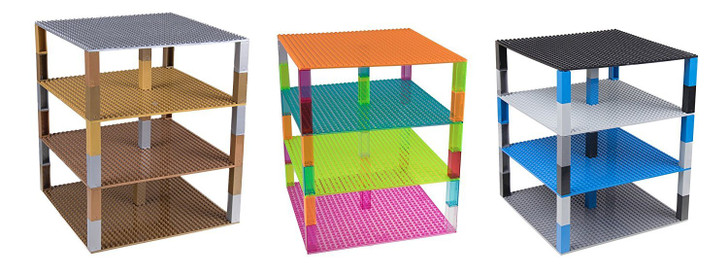 "Strictly Briks Classic Baseplates 10"" x 10"" Building Brick Baseplates 100% Compatible with All Major Brands 