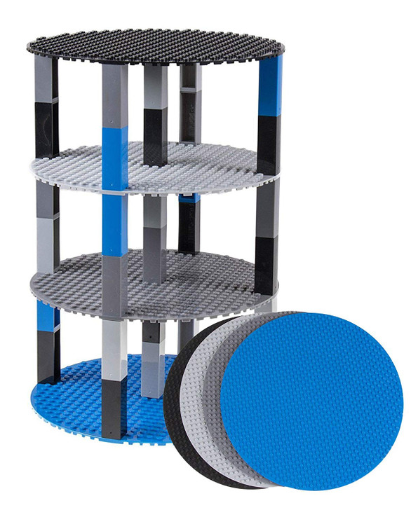"Classic Stackable 8"" Circle Baseplate Brik Tower by Strictly Briks 