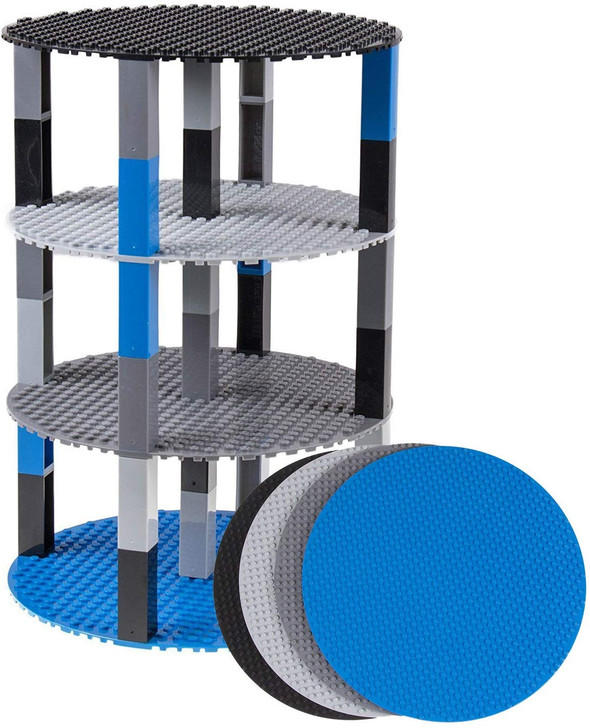 """Classic Stackable 8"""" Circle Baseplate Brik Tower by Strictly Briks 