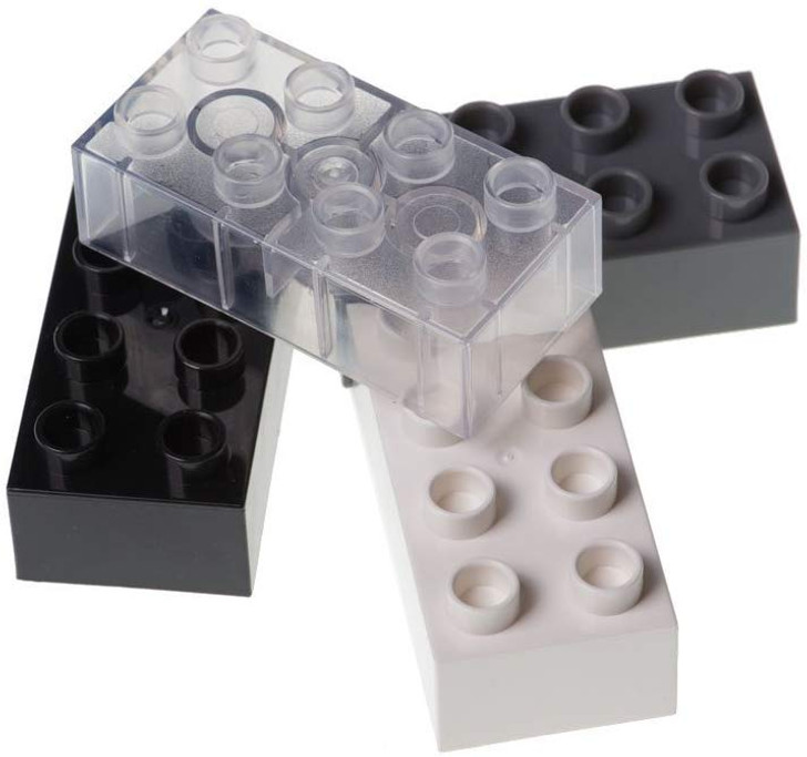 Strictly Briks Classic Big Briks Building Brick Set 100% Compatible with All Major Brands | 2 Large Block Sizes for Ages 3+ | Premium Building Bricks with Big Pegs in Neutral Colors | 108 Pieces