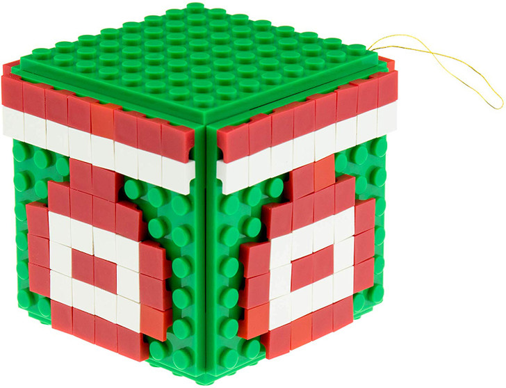 Strictly Briks Design Your Own Brick Ornament Set for Christmas Tree | 100% Compatible with All Major Brands | 8x8 Baseplates, 1x1 Pixels, and 3D Briks | Xmas Holiday Decoration STEM Toy | 164 Pieces