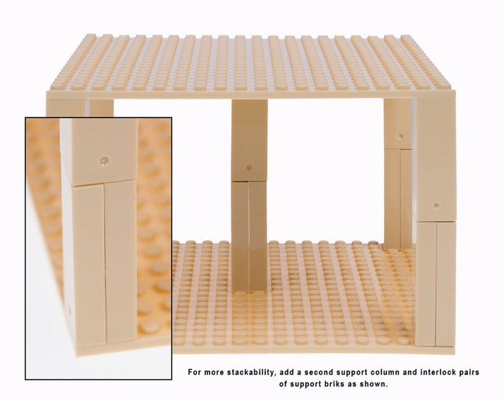 "Strictly Briks Classic Baseplates 10"" x 10"" Brik Tower 100% Compatible with All Major Brands 