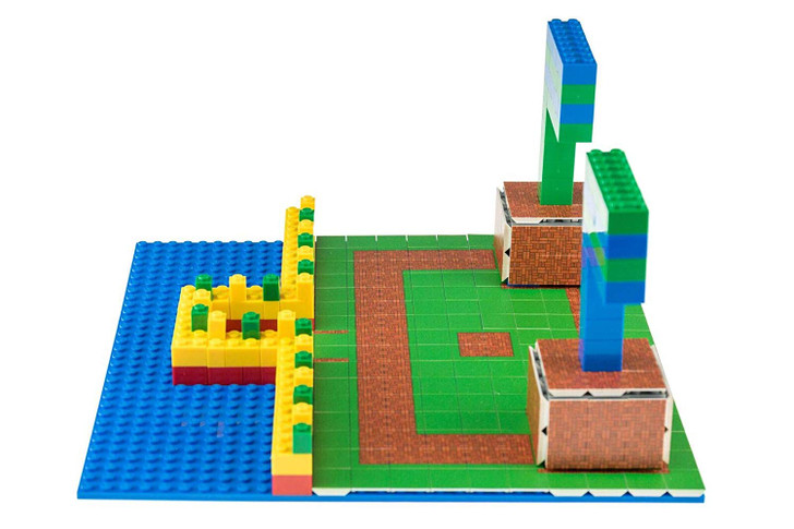 Strictly Briks - Brick and Grass Building Tile Set - 100% Compatible with All Major Brick Brands - 256 2x2 Textured Tiles for Creative Play