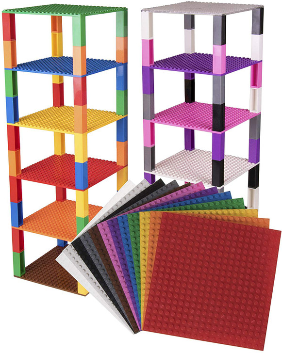 "Classic Baseplates 6"" x 6"" Brik Tower by Strictly Briks 
