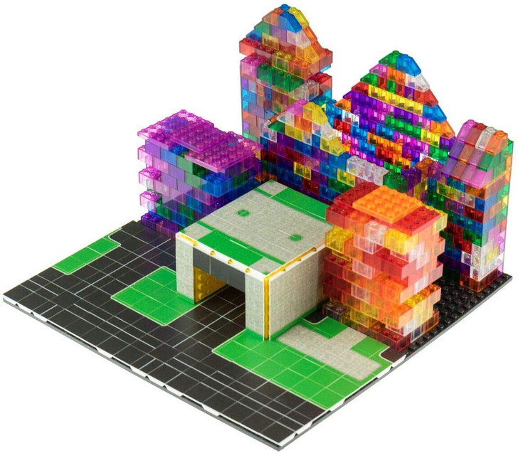 Strictly Briks - City Building Tile Set - 100% Compatible with All Major Brands - 256 2x2 Textured Tiles for Creative Play - Baseplate and 3D Briks Not Included