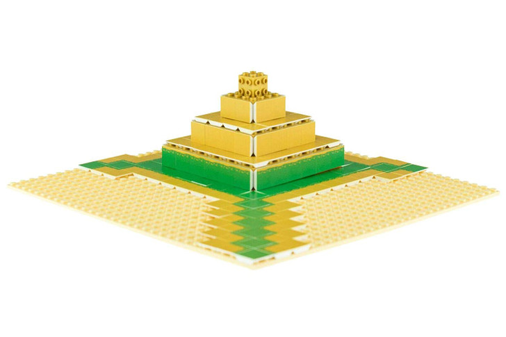 Strictly Briks Desert Oasis Building Tile Set - 100% Compatible with All Major Brick Brands - 256 2x2 Textured Tiles for Creative Play - Baseplate and Bricks Not Included