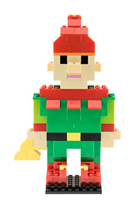 Strictly Briks - Building Bricks and Blocks Set - Classic Briks Christmas Santa's Elf - 100% Compatible with All Major Brick Brands - 142 Pieces
