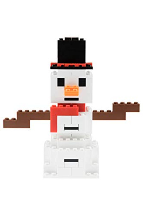 Strictly Briks - Building Bricks and Blocks Set - Classic Briks Christmas Winter Snowman - 100% Compatible with All Major Brick Brands - 105 Pieces