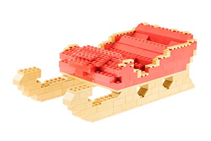 Strictly Briks - Building Bricks and Blocks Set - Classic Briks Christmas Santa's Sleigh - 100% Compatible with All Major Brick Brands - 255 Pieces