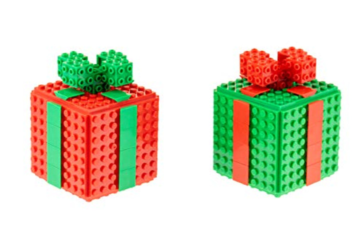 Strictly Briks - Building Bricks and Blocks Set - Classic Briks Red and Green - 100% Compatible with All Major Brick Brands - 78 Pieces