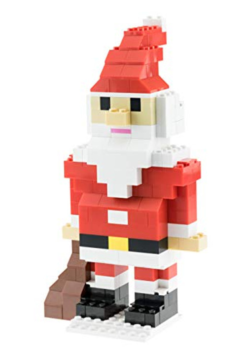 Strictly Briks - Building Bricks and Blocks Set - Classic Briks Christmas Santa Claus Figure - 100% Compatible with All Major Brick Brands - 161 Pieces
