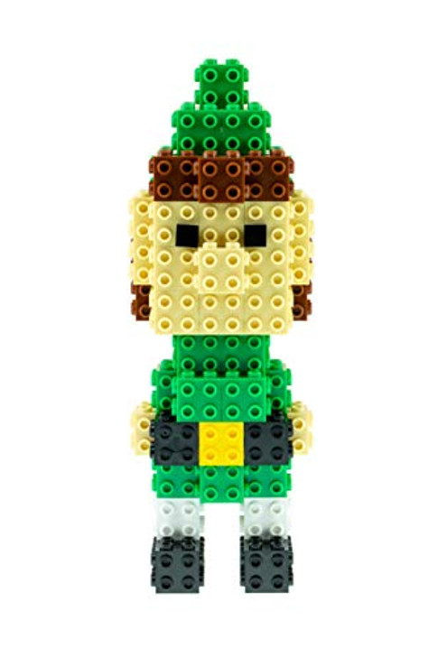 Strictly Briks - Building Bricks and Blocks Set - 3D Briks Christmas Elf - 100% Compatible with All Major Brick Brands - 70 Pieces