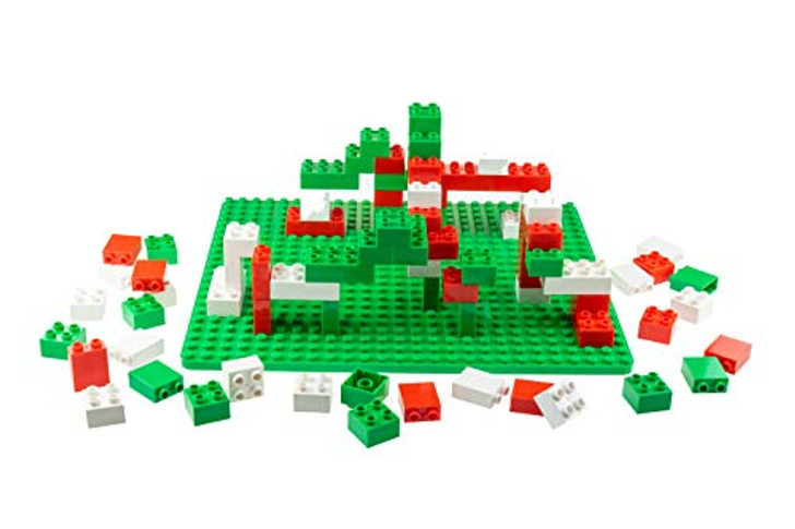 Strictly Briks - Big Briks Set - 84 Pieces - Christmas Colors - Compatible with All Major Brands - Large Building Blocks for Ages 3 and Up