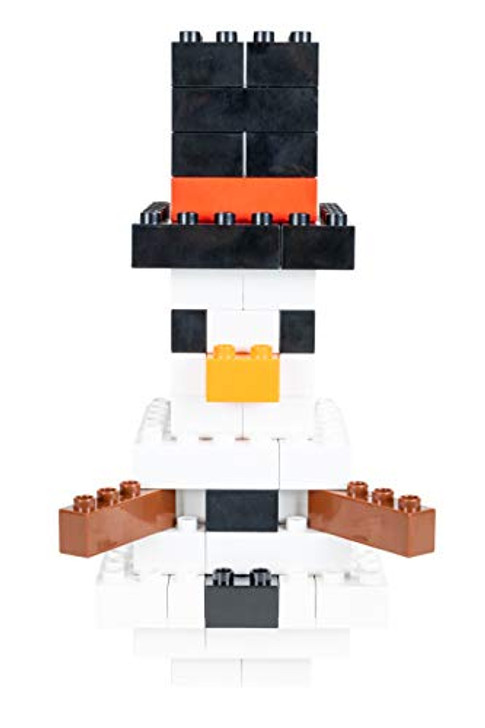 Strictly Briks - Building Bricks and Large Blocks Set - Big Briks Winter Snowman - 100% Compatible with All Major Brick Brands - 57 Pieces