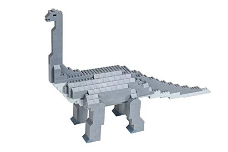 Strictly Briks - Brontosaurus Classic Briks Dinosaur Building Set - 467 Piece Toy - 100% Compatible with All Major Building Brick Brands