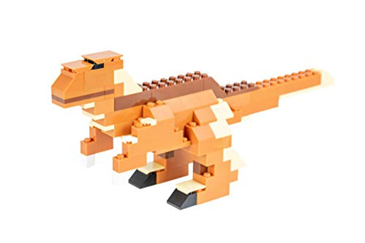 Strictly Briks - Raptor Classic Briks Dinosaur Building Set - 111 Piece Toy - 100% Compatible with All Major Building Brick Brands