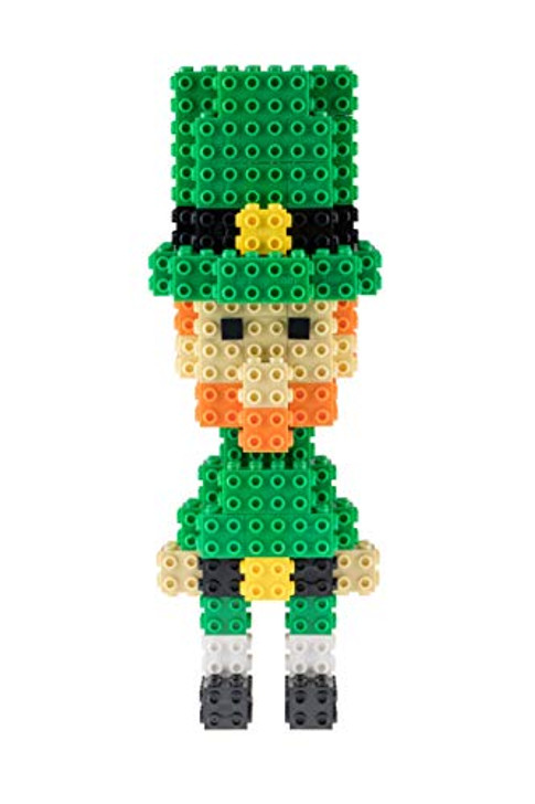 Strictly Briks 3D Building Briks & Blocks Set | St. Patrick's Day Toy Compatible with All Major Brands | Leprachaun with Hat Accessory Set for Kids (116 Pieces)