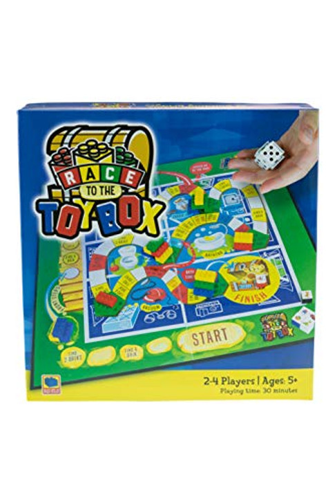 Strictly Briks - Race to The Toy Box - Building Bricks Board Game for Ages 5+