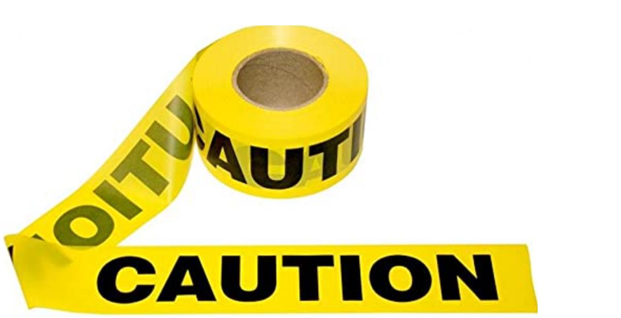 Barricade Tape - - CAUTION CAUTION CAUTION- - Yellow