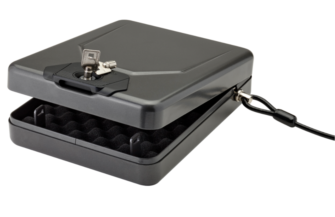 The Alpha Elite® Lock Box lives up to its name with groundbreaking security technology to protect your handguns and other valuables.