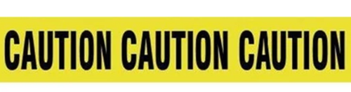 Barricade Tape - - CAUTION CAUTION CAUTION- - Yellow