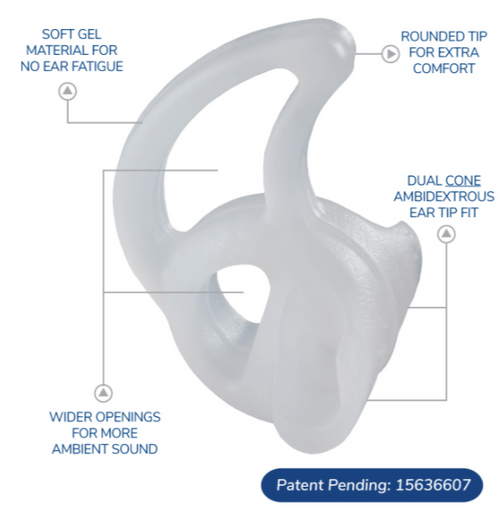 Fin Ultra™ Ambi Double-Sided All Day Comfort Ear Tips