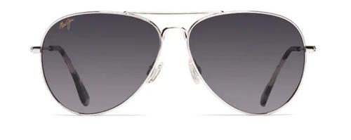 Maui Jim - MAVERICKS - Silver Frame -  Neutral Grey Lens