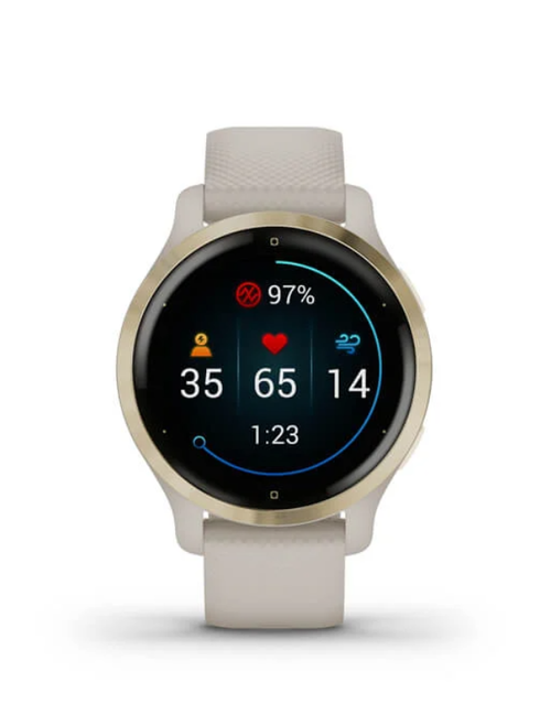 Venu® 2S - Light Gold Stainless Steel Bezel with Light Sand Case and Silicone Band