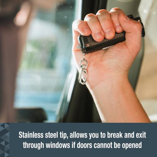 Safe Escape 3-In-1 Pepper Gel With Seat Belt Cutter and Window Breaker