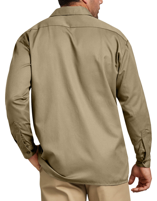 Dickies Long Sleeve Work Shirt, Military Khaki