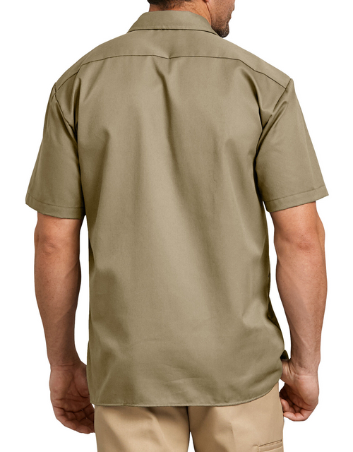 Dickies Short Sleeve Work Shirt, Military Khaki