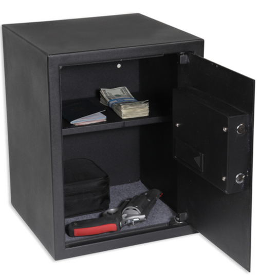 DIGITAL PISTOL VAULT W/ SHELF (LARGE)