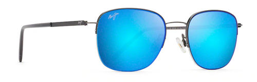Maui Jim - CRATER RIM - Satin Dark Gunmetal - Blue Hawaii