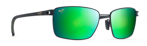 Maui Jim - COVE PARK - Black with Black Temples & Olive Green Rubber - Maui Green