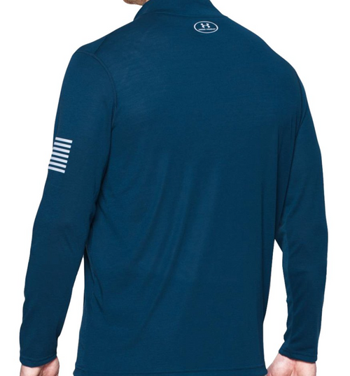 UA Freedom Threadborne 1/4 Zip - Navy