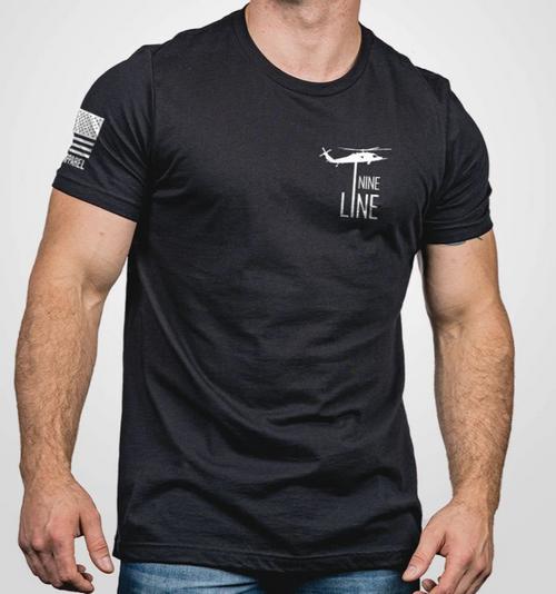 Nine Line Apparel - Thin Blue Line - Black T-SHIRT