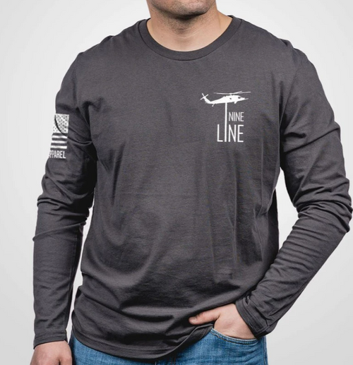 Nine Line Apparel - Don't Tread On Me - Grey Long Sleeve Shirt