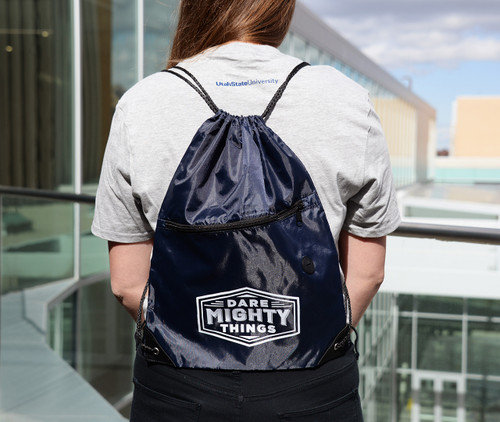Dare Mighty Things Drawstring Bag