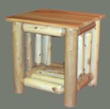 Cedar Log End Table - C4009