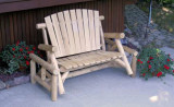 Cedar Log Glider Bench - CFU139